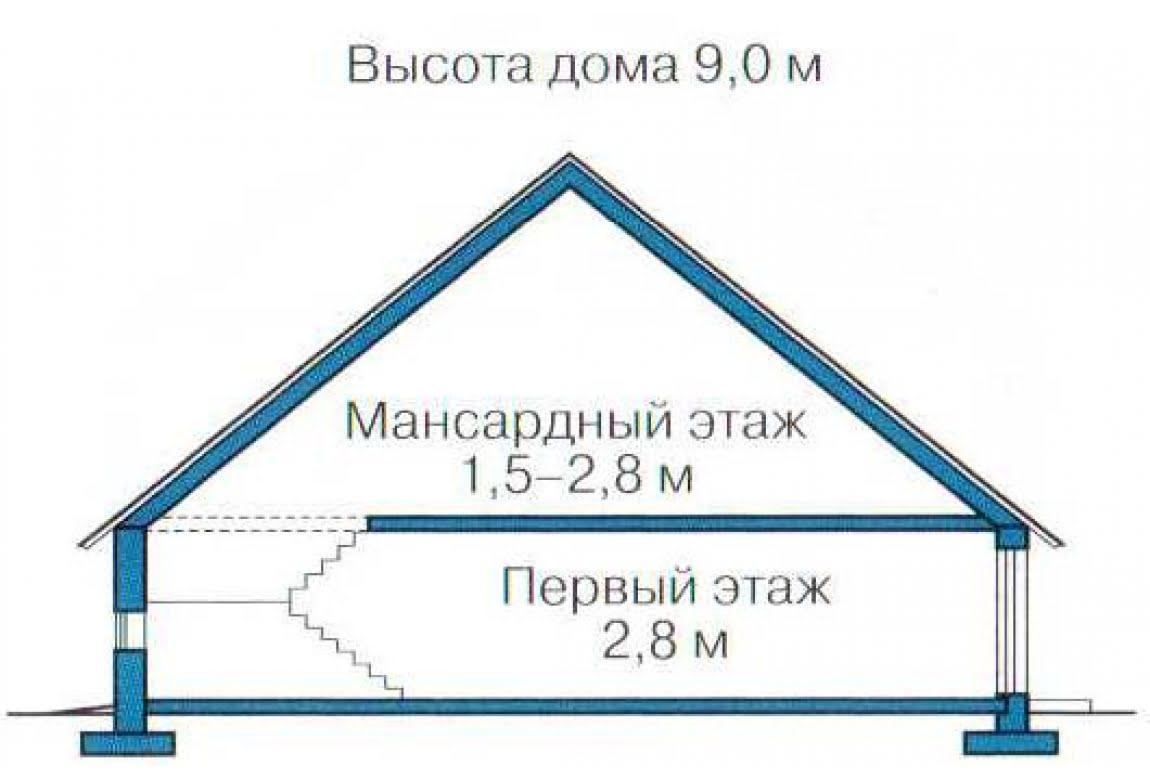 План N3 проекта каркасного дома АСД-1403