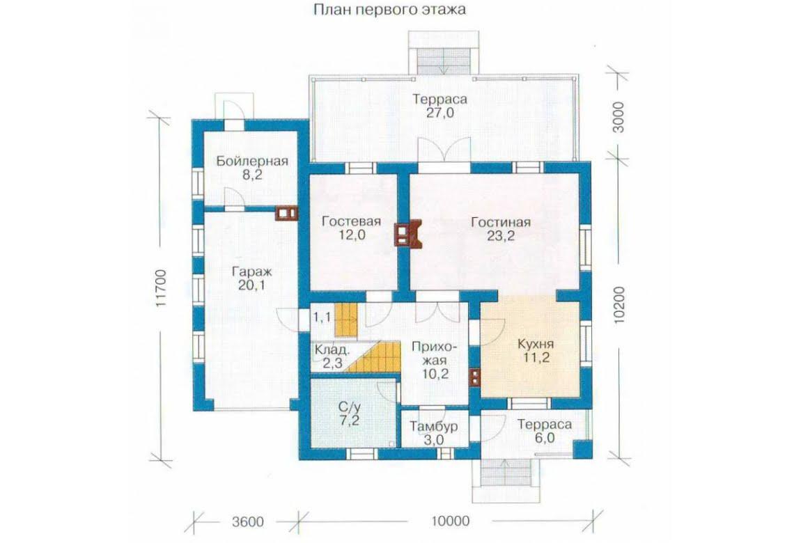 План N1 проекта каркасного дома АСД-1404