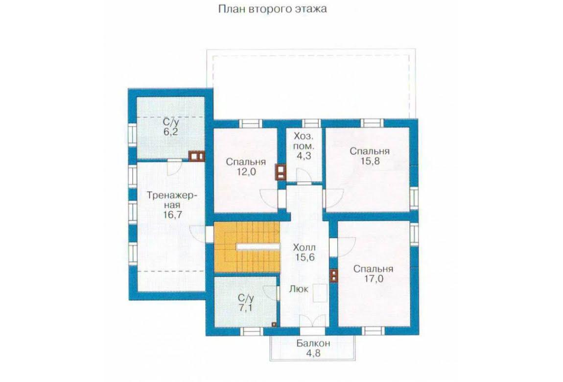 План N2 проекта каркасного дома АСД-1404