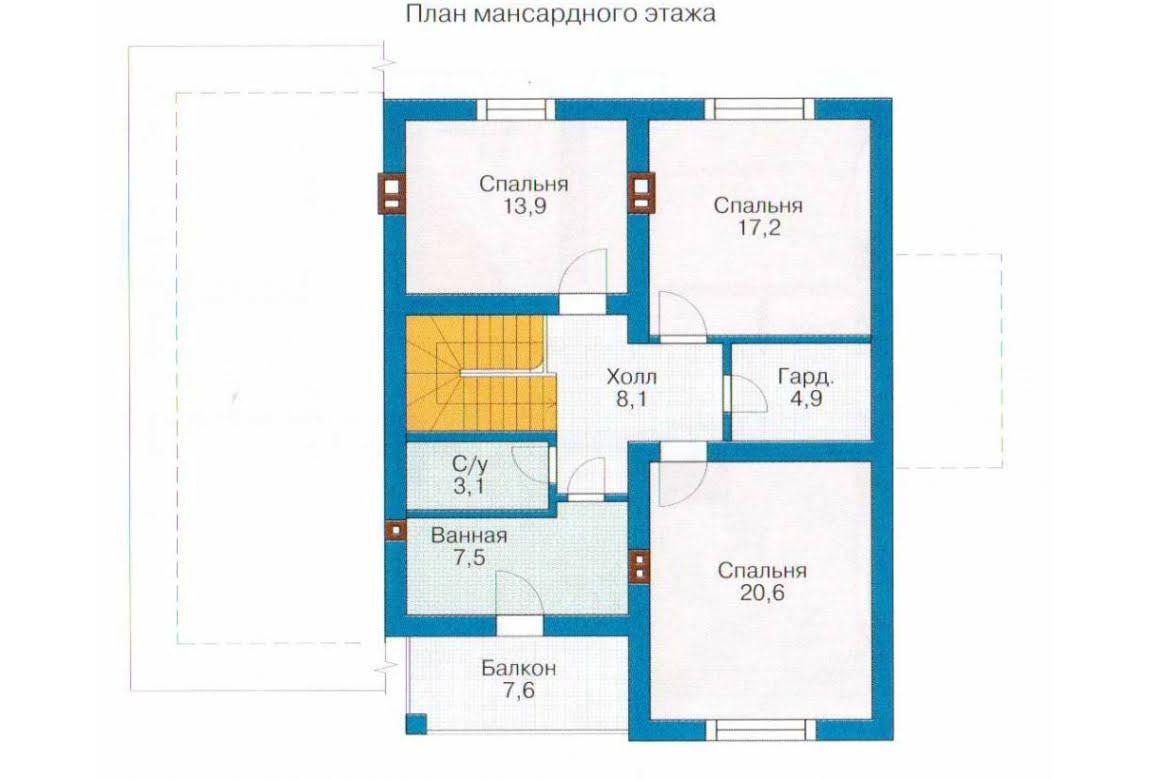 План N2 проекта каркасного дома АСД-1405