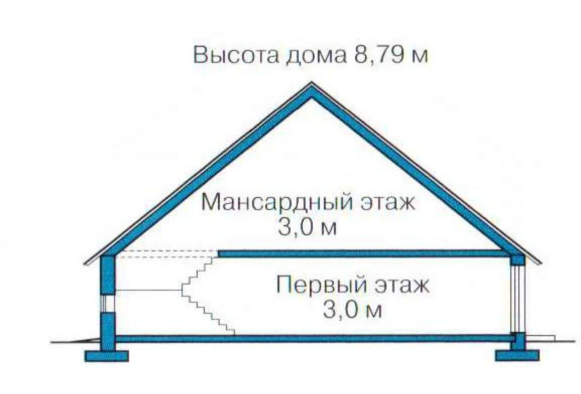 План N3 проекта каркасного дома АСД-1405