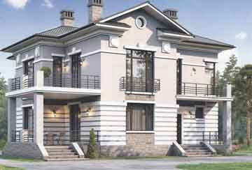 Каркасный дом АСД-1407