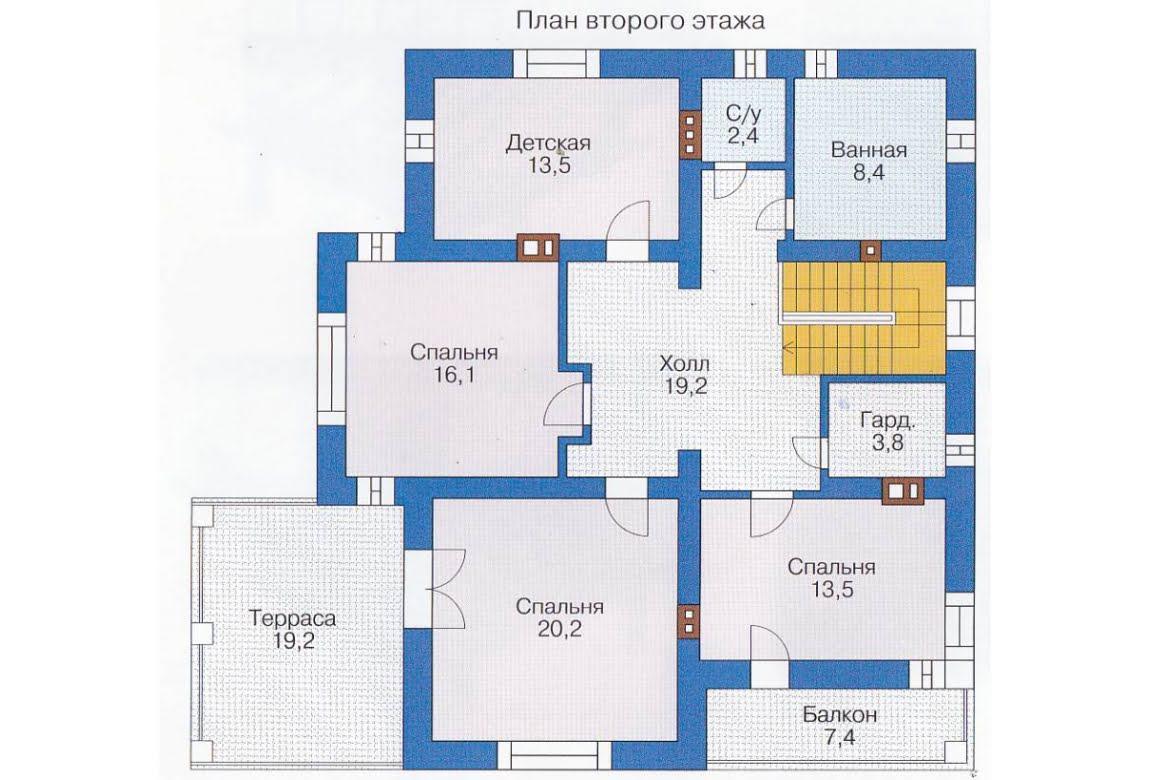 План N1 проекта каркасного дома АСД-1407