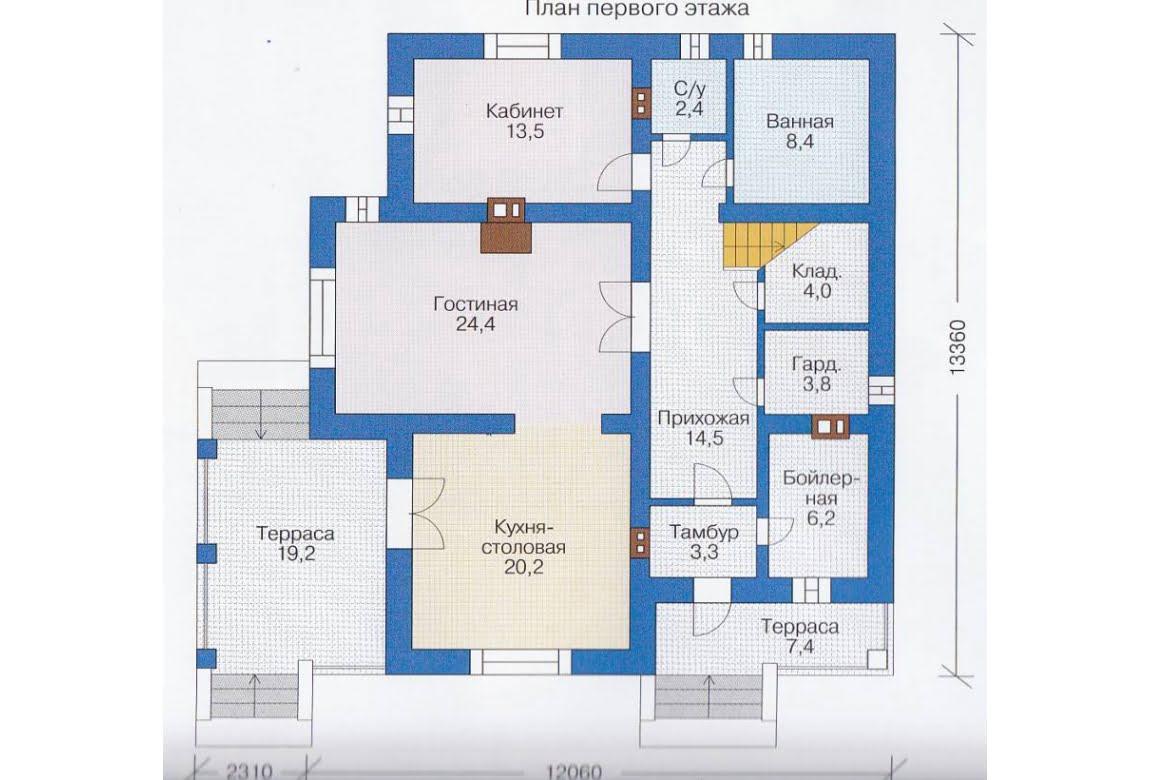 План N2 проекта каркасного дома АСД-1407