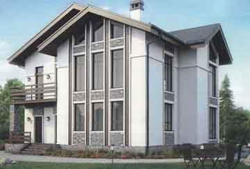 Каркасный дом АСД-1408