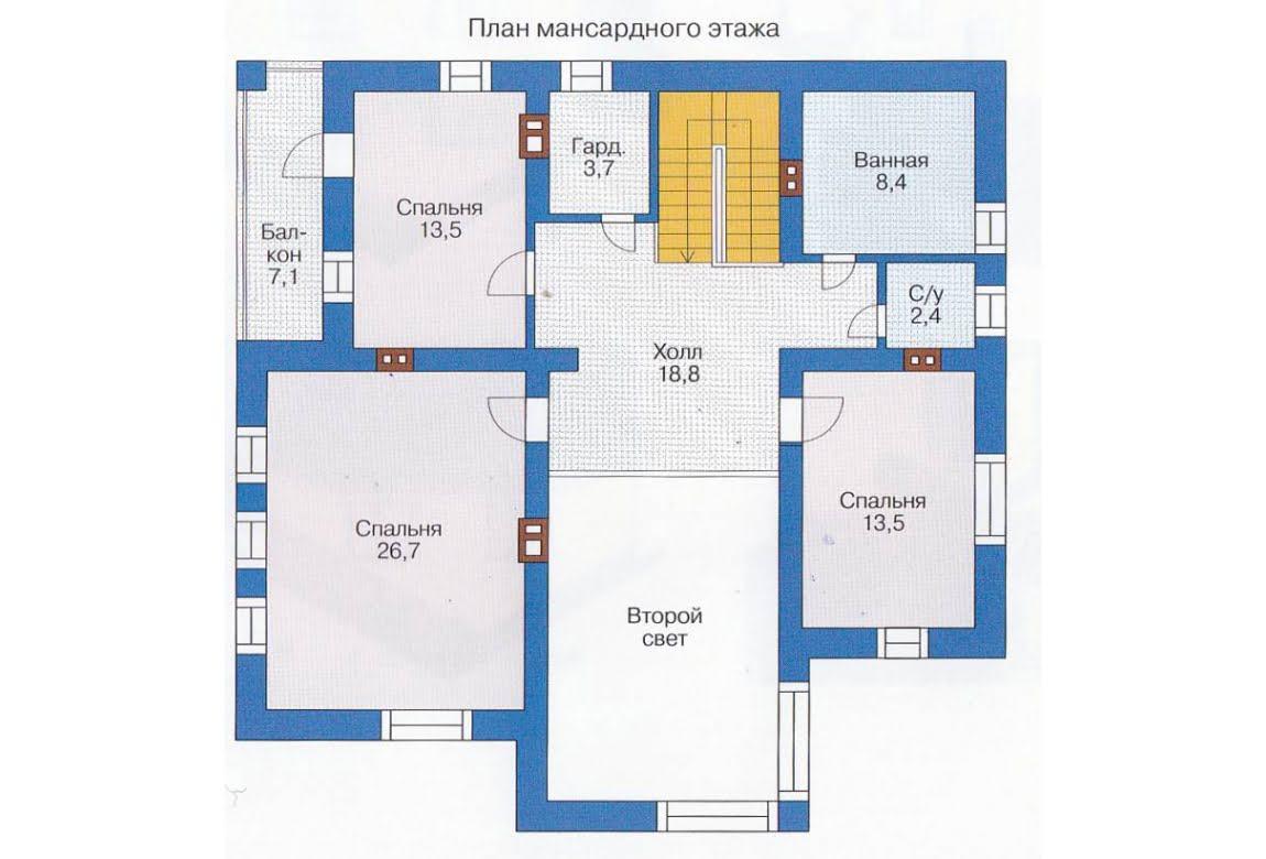 План N1 проекта каркасного дома АСД-1408