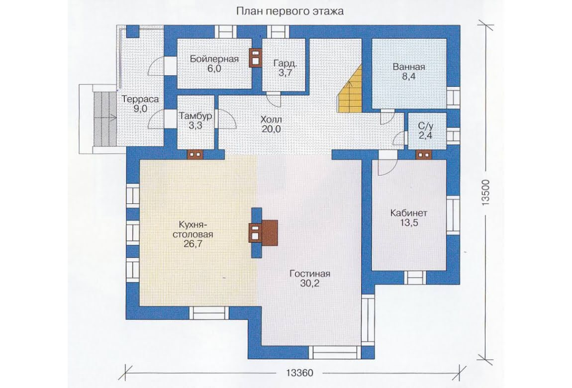 План N2 проекта каркасного дома АСД-1408
