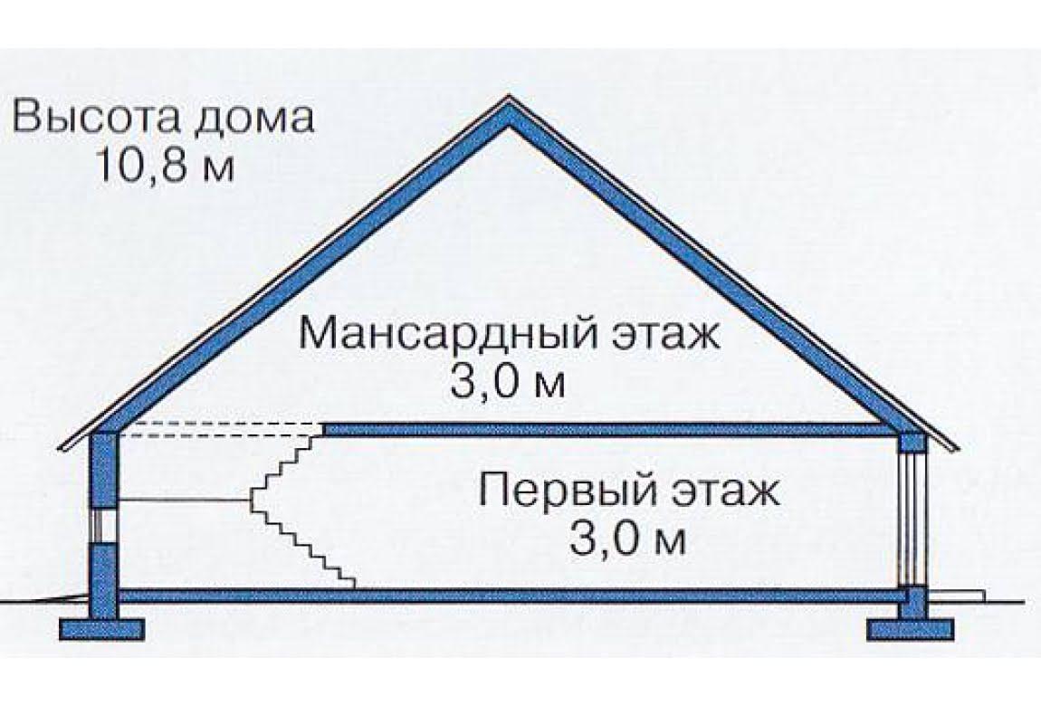 План N3 проекта каркасного дома АСД-1408