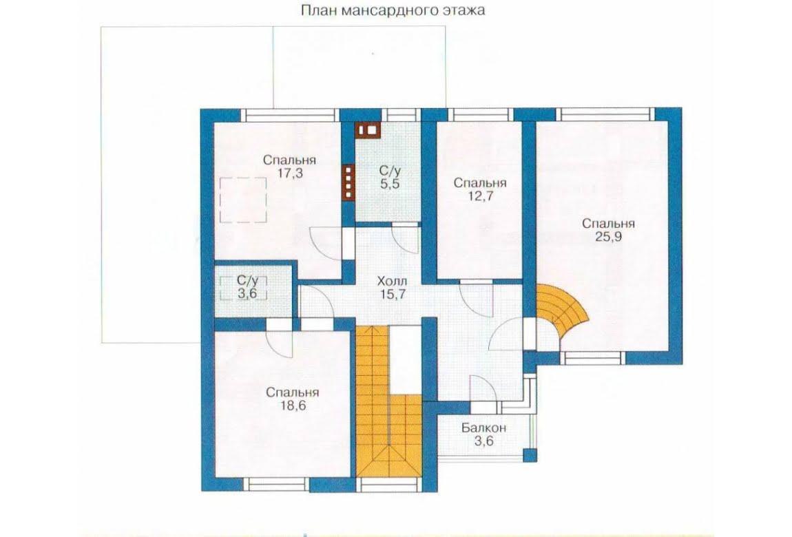 План N2 проекта каркасного дома АСД-1409