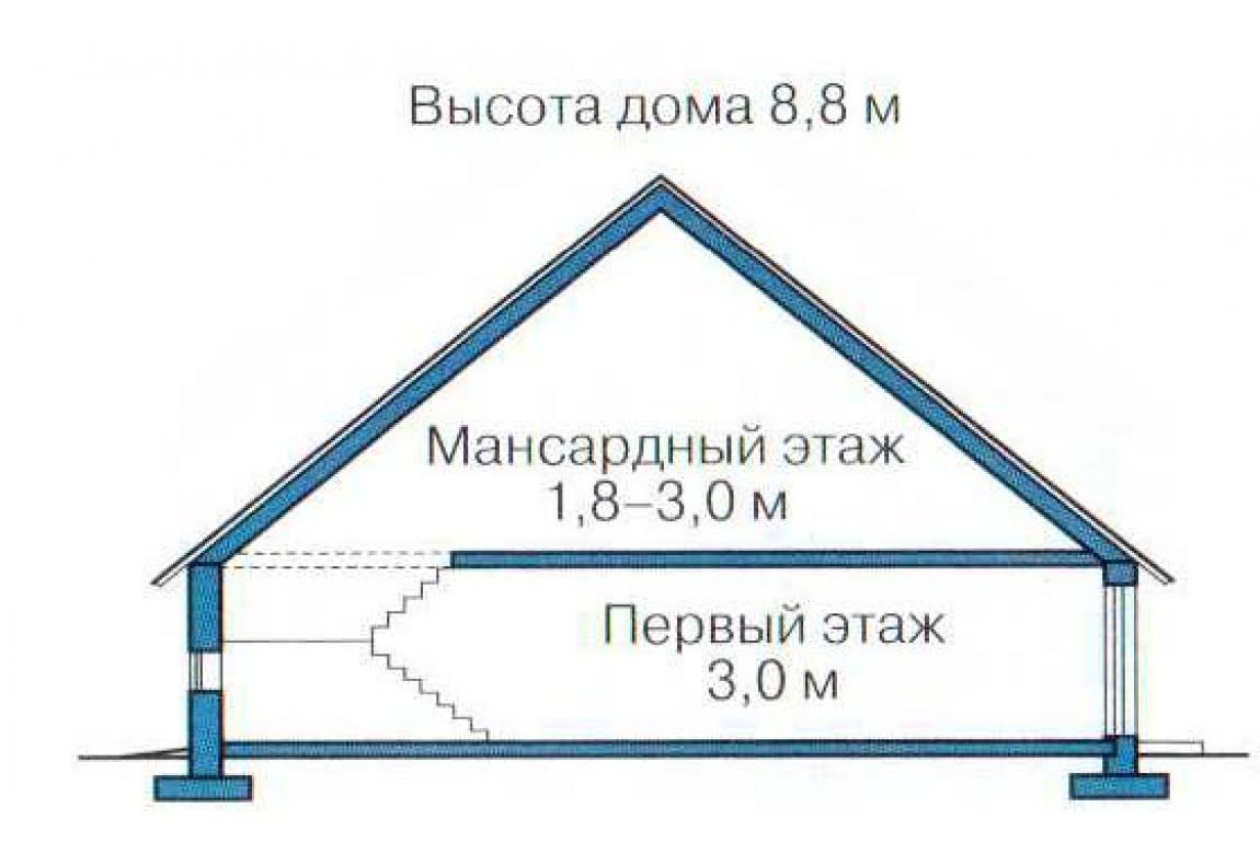 План N3 проекта каркасного дома АСД-1409