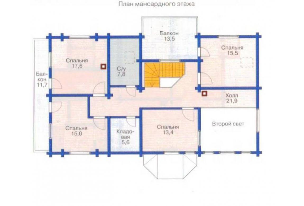 План N2 проекта каркасного дома АСД-1411