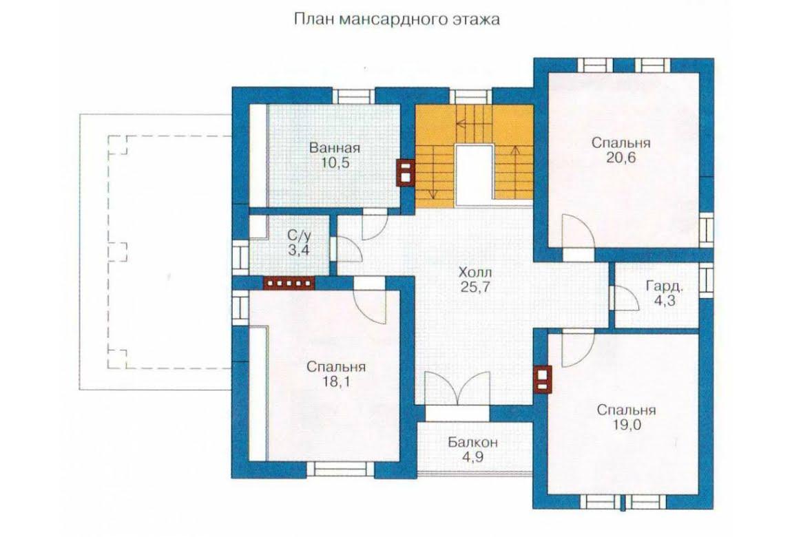 План N2 проекта каркасного дома АСД-1412