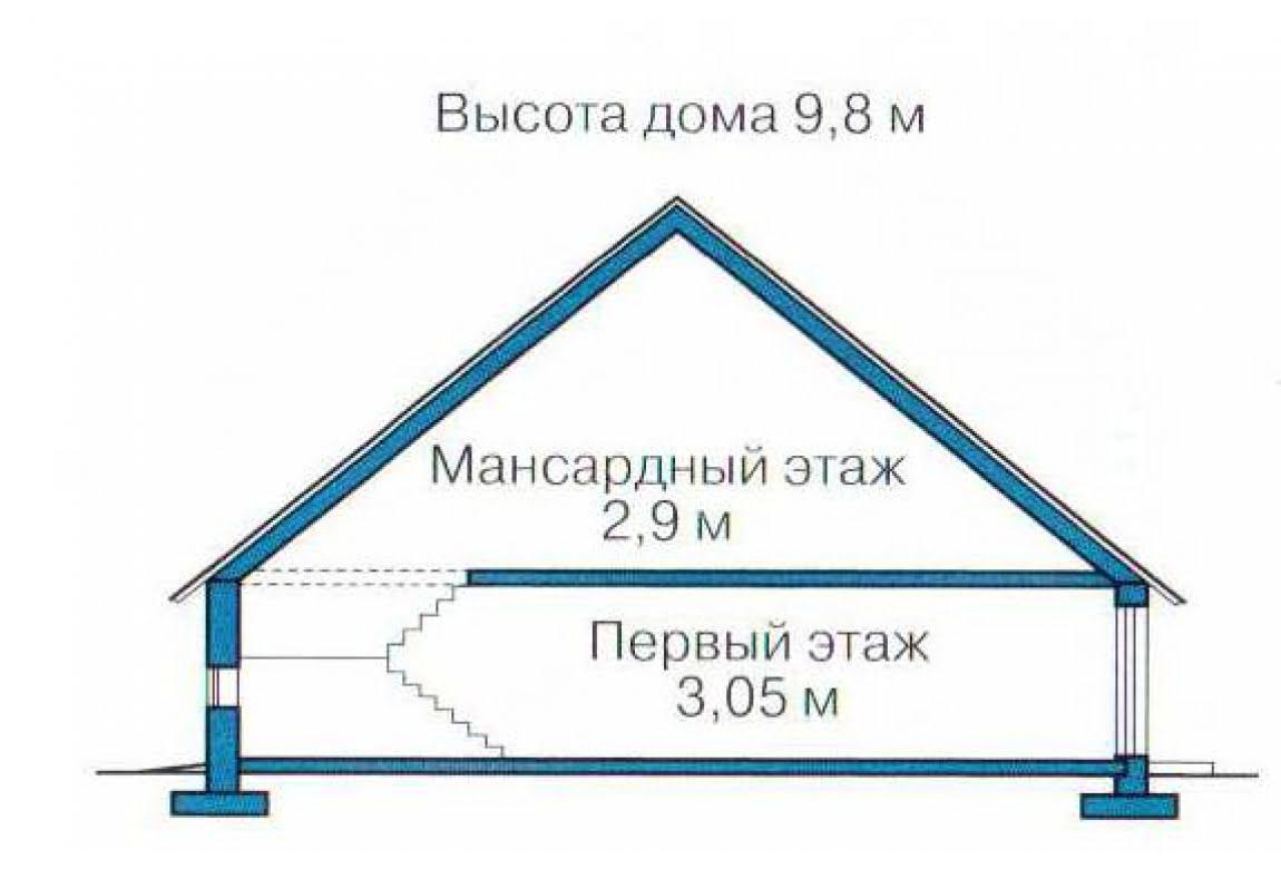 План N3 проекта каркасного дома АСД-1412