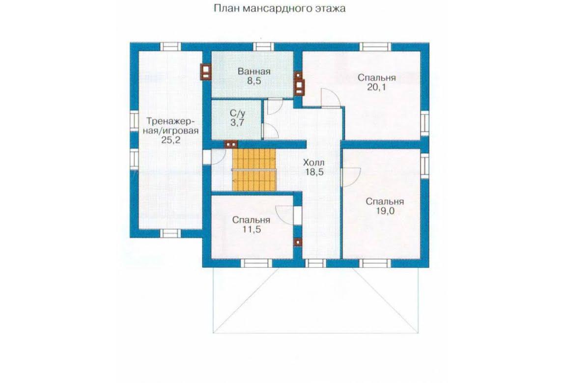 План N2 проекта каркасного дома АСД-1413