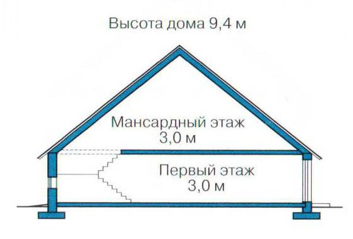 План N3 проекта каркасного дома АСД-1413