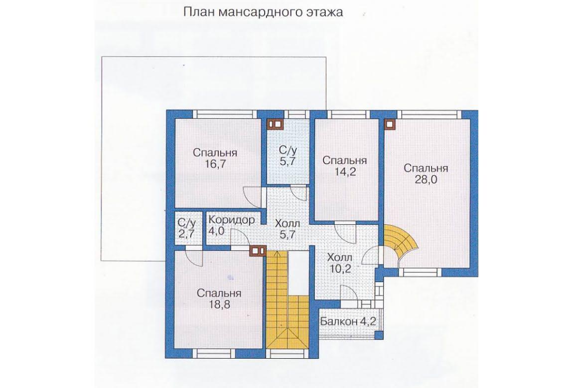 План N1 проекта каркасного дома АСД-1415