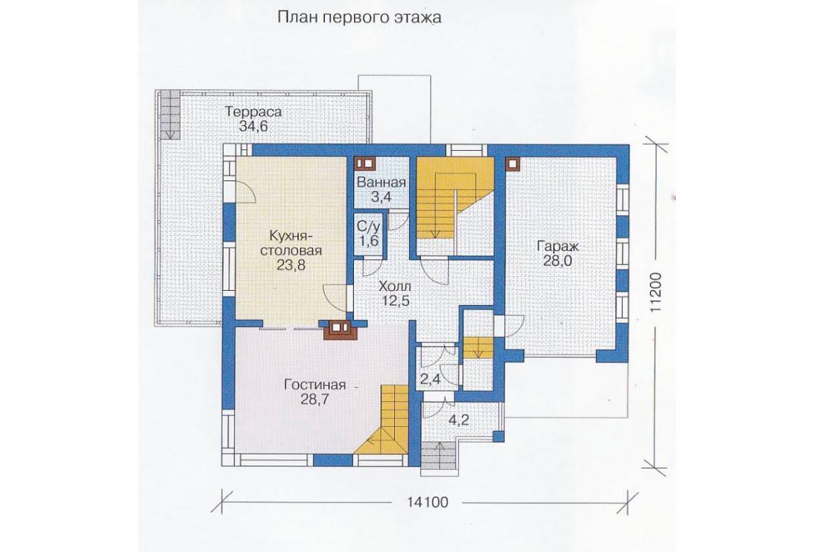 План N2 проекта каркасного дома АСД-1415