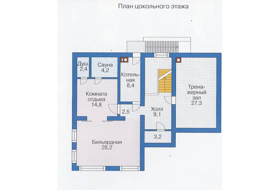 План N3 проекта каркасного дома АСД-1415