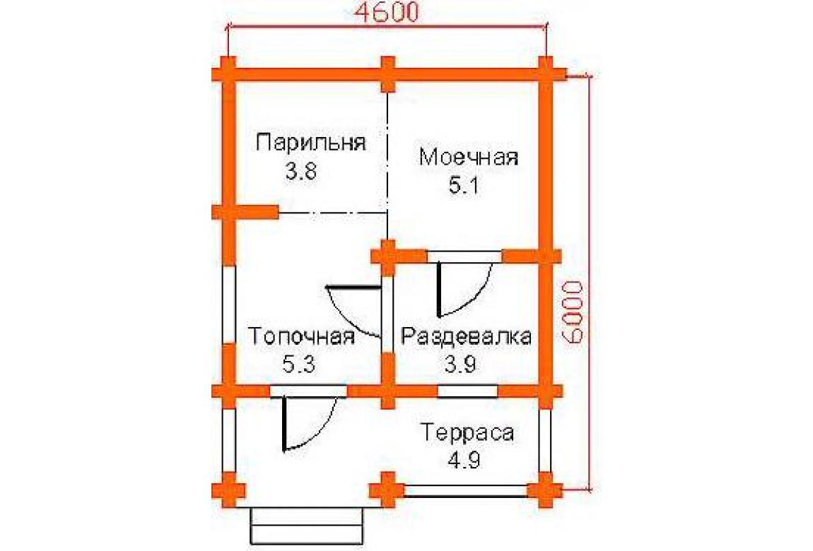 План N1 проекта бани АСД-1417