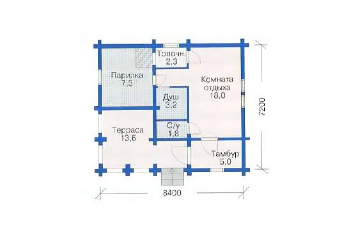 План N1 проекта бани АСД-1418