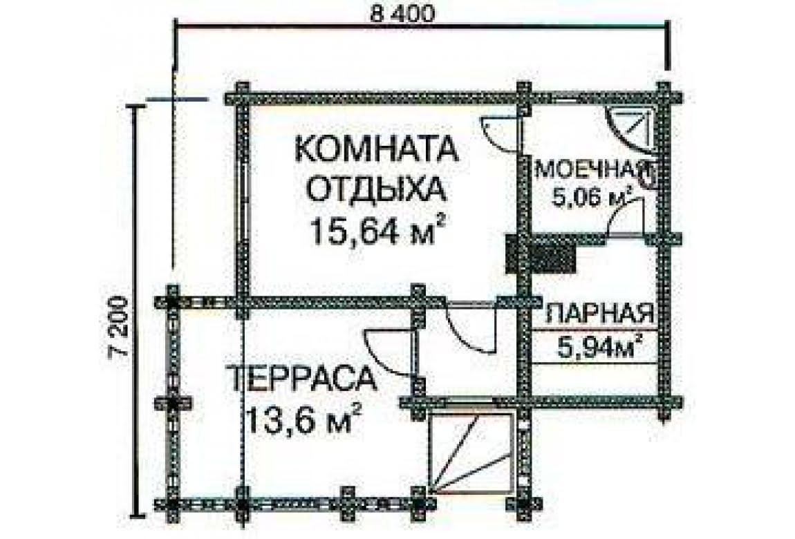 План N1 проекта бани АСД-1419