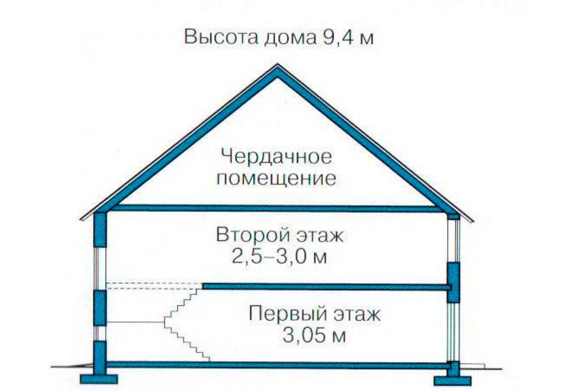 План N3 проекта кирпичного дома АСД-1042