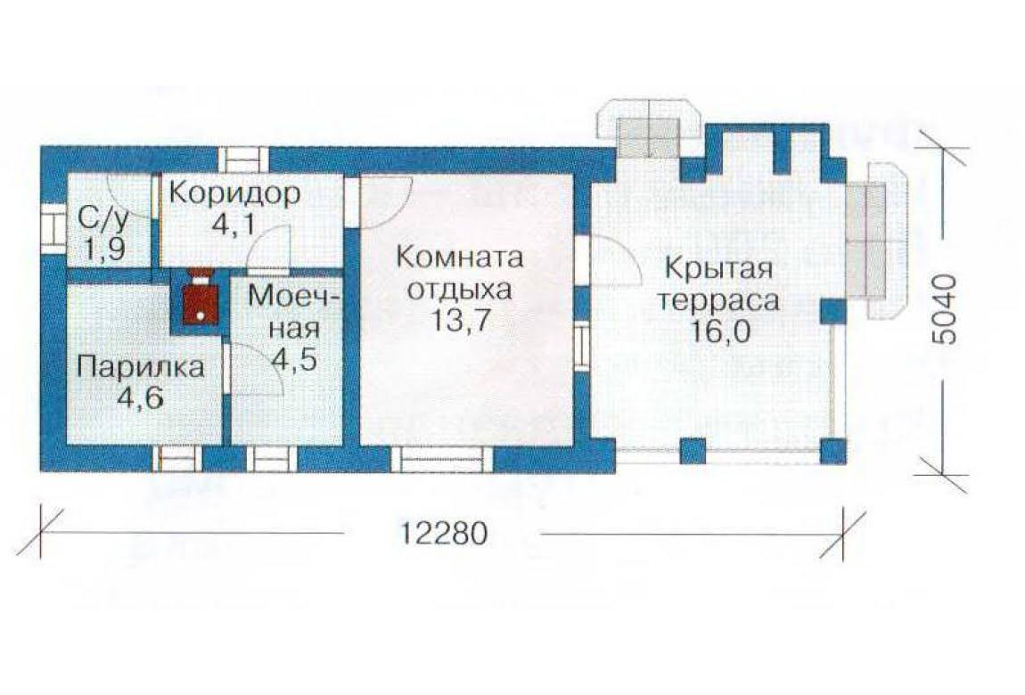 План N1 проекта бани АСД-1420
