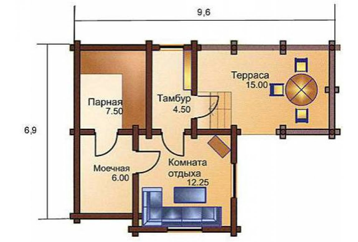План N1 проекта бани АСД-1421