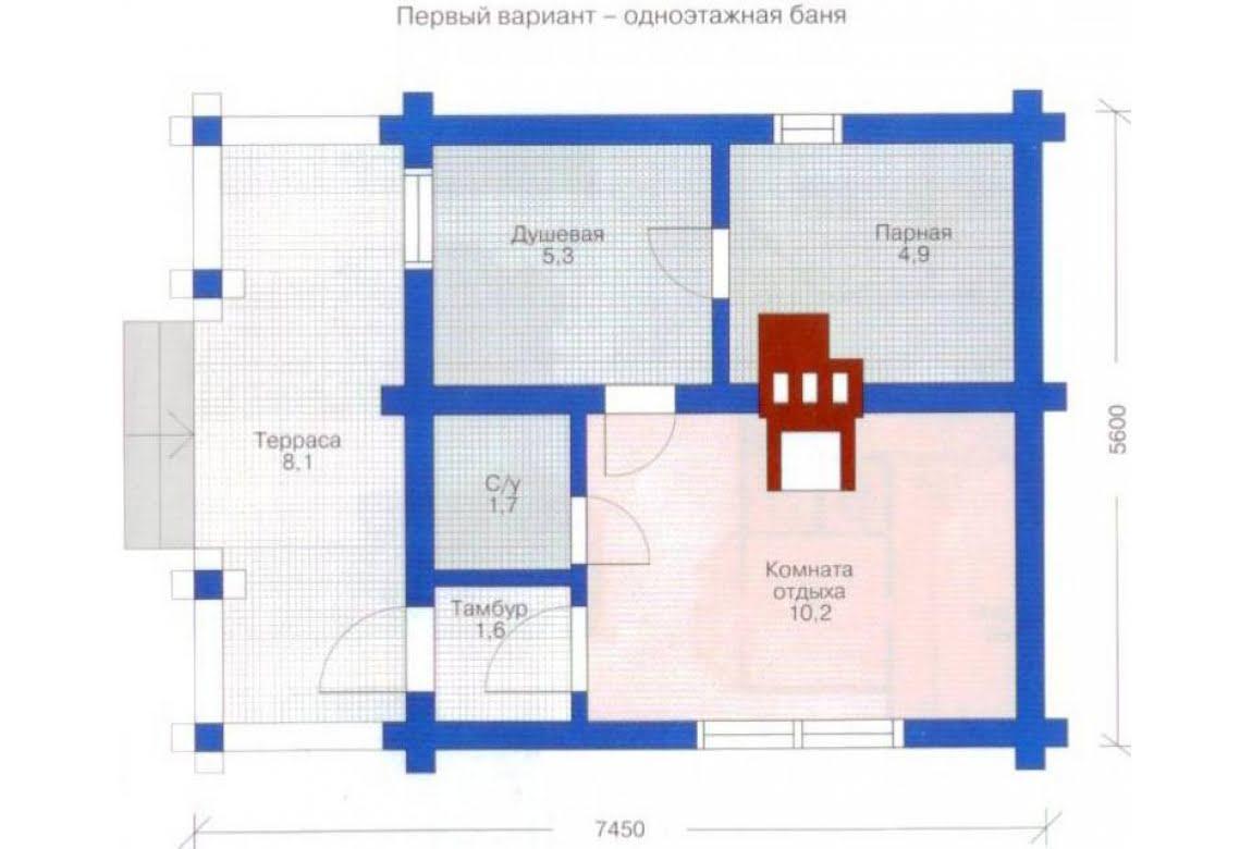 План N2 проекта бани АСД-1423