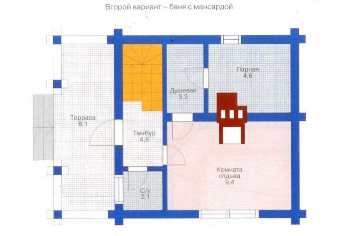 План N3 проекта бани АСД-1423