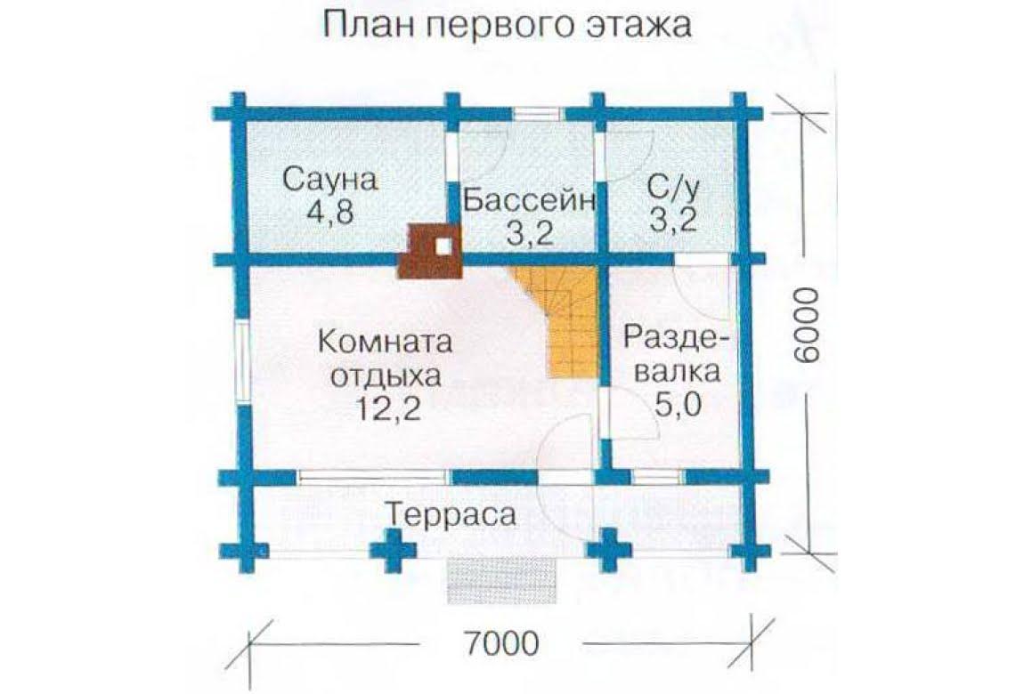 План N1 проекта бани АСД-1424