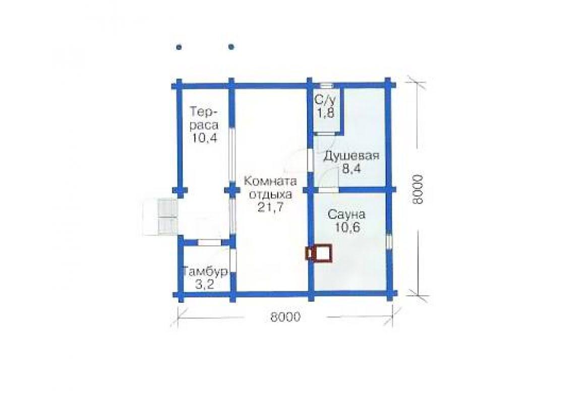 План N1 проекта бани АСД-1425
