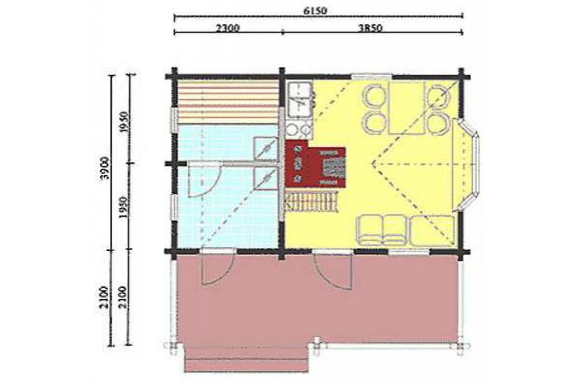 План N1 проекта бани АСД-1426