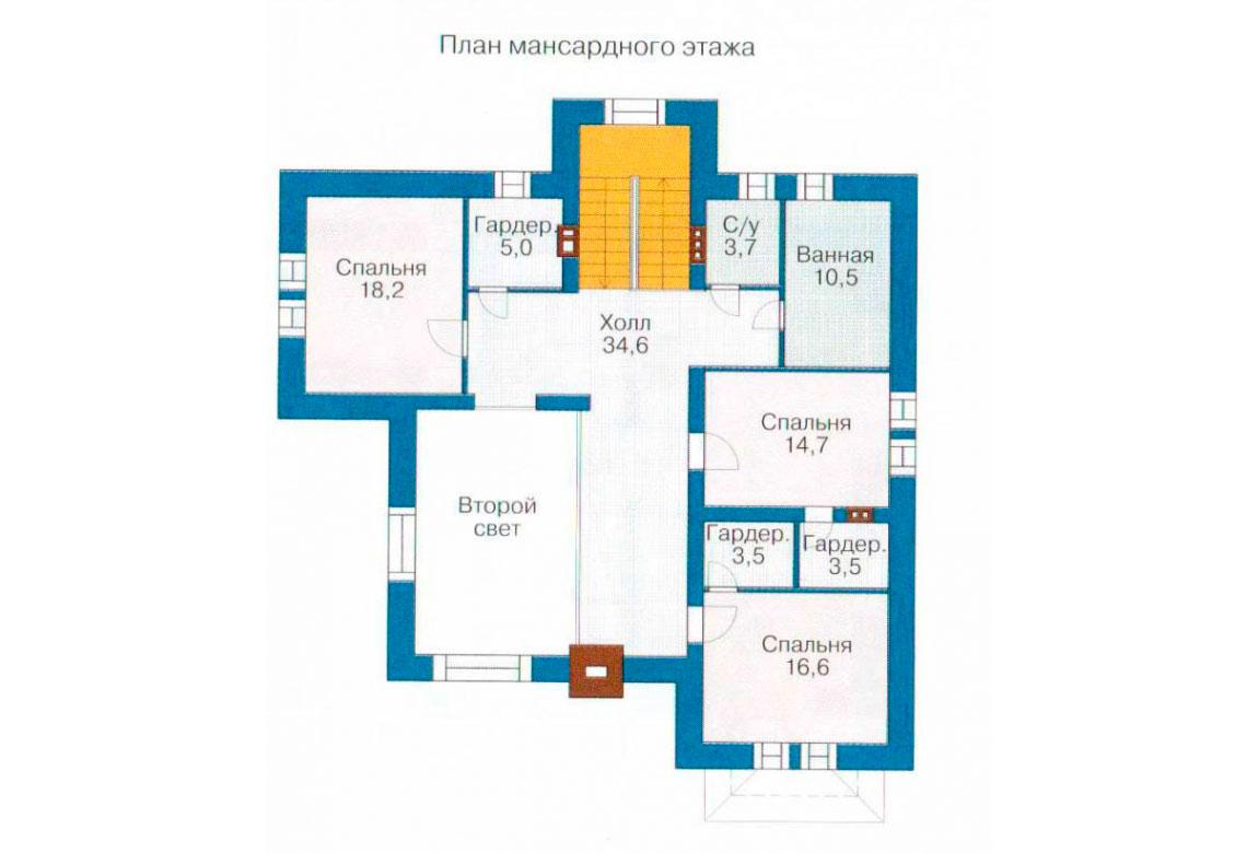 План N1 проекта кирпичного дома АСД-1043