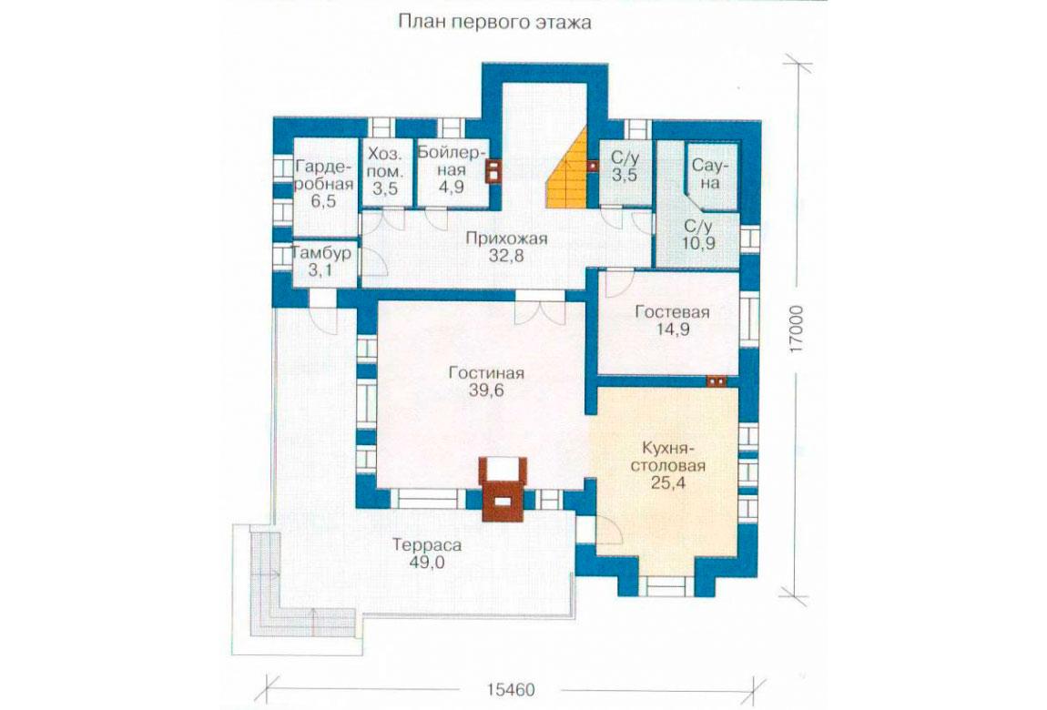 План N2 проекта кирпичного дома АСД-1043