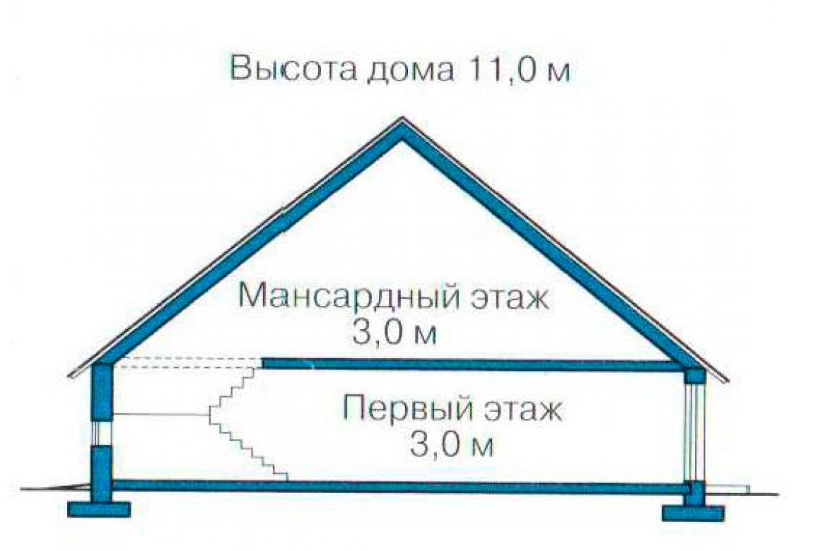 План N3 проекта кирпичного дома АСД-1043
