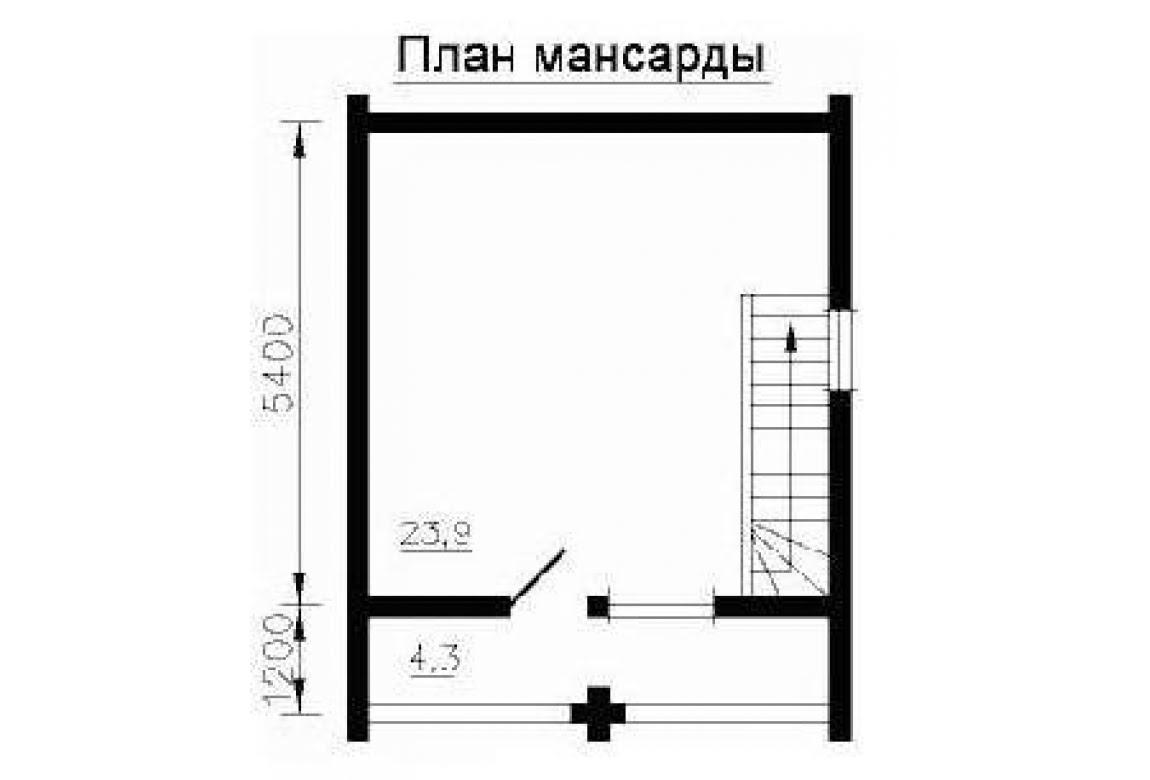 План N2 проекта бани АСД-1432