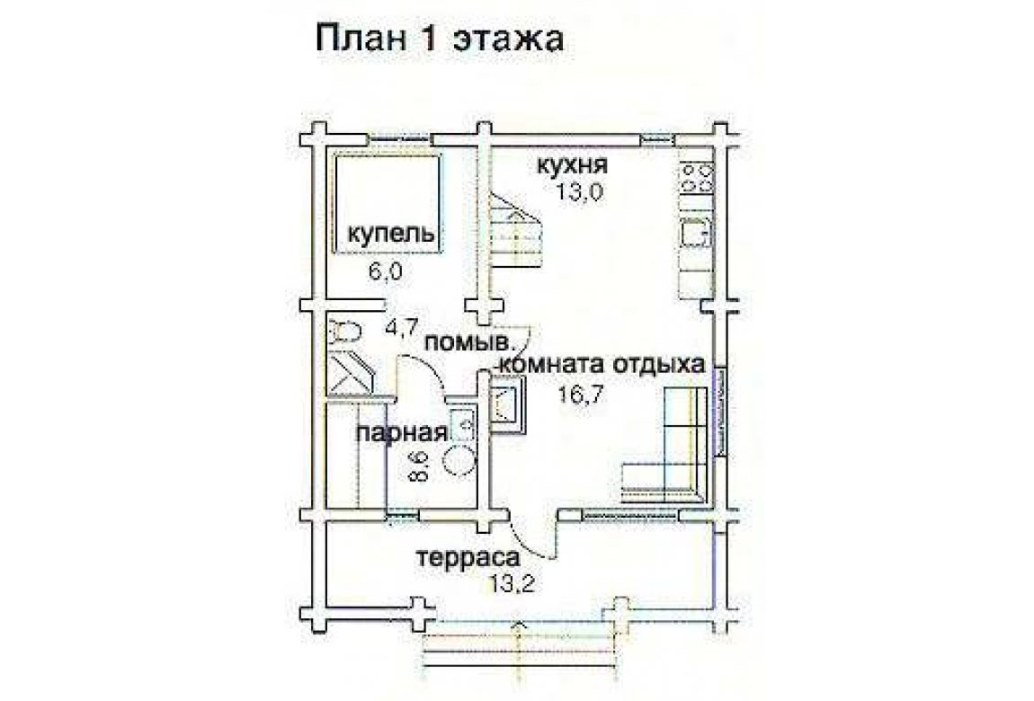План N1 проекта бани АСД-1434