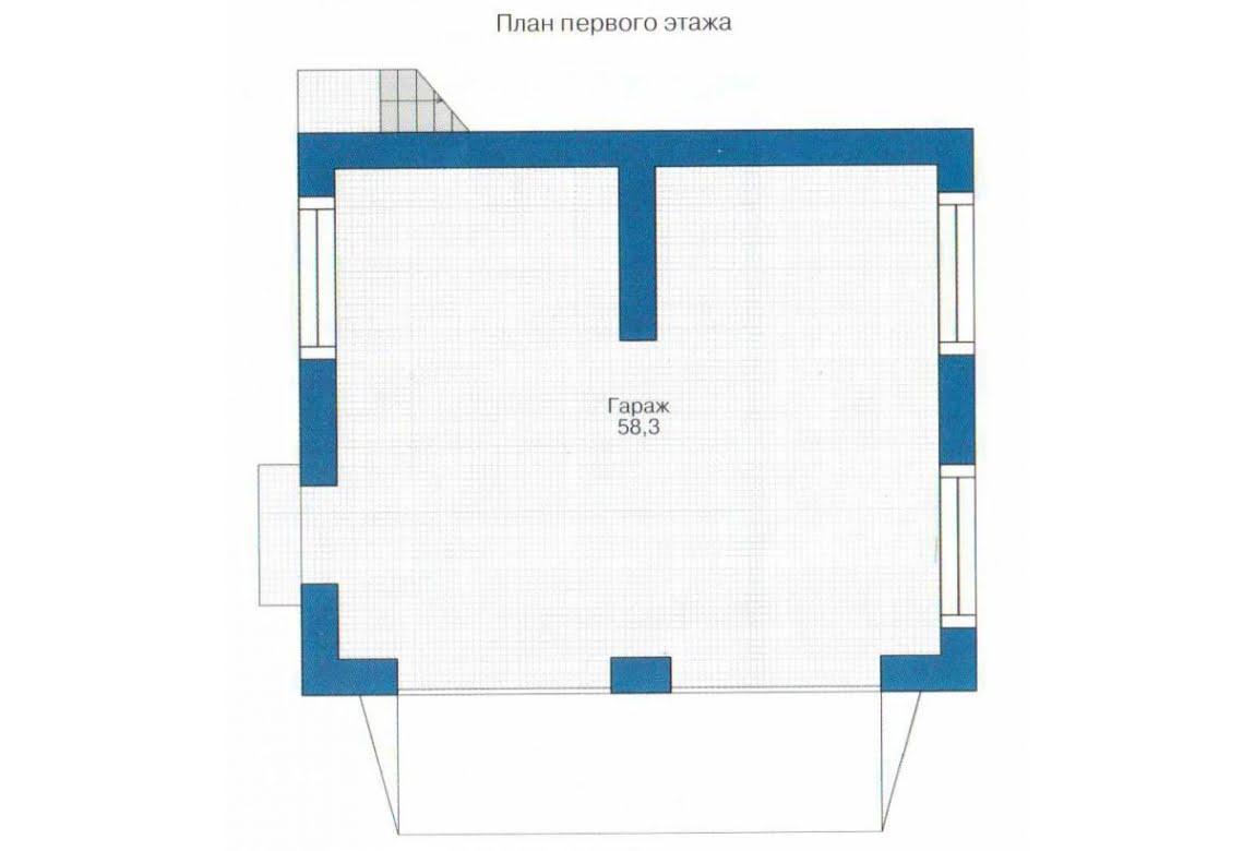План N1 проекта гаража АСД-1437