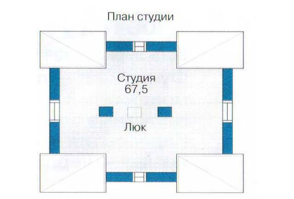 План N1 проекта гаража АСД-1438