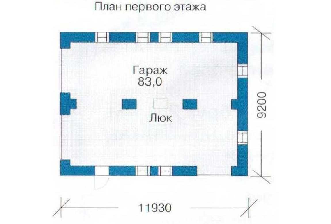 План N2 проекта гаража АСД-1438
