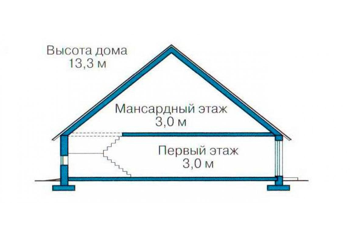 План N3 проекта кирпичного дома АСД-1044