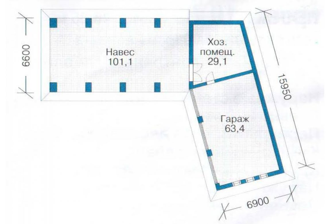 План N1 проекта гаража АСД-1440