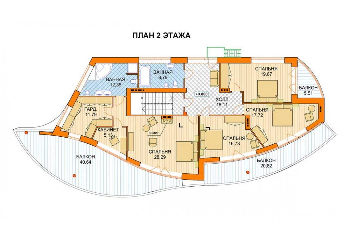 План N3 проекта ВИП дома АСД-1441