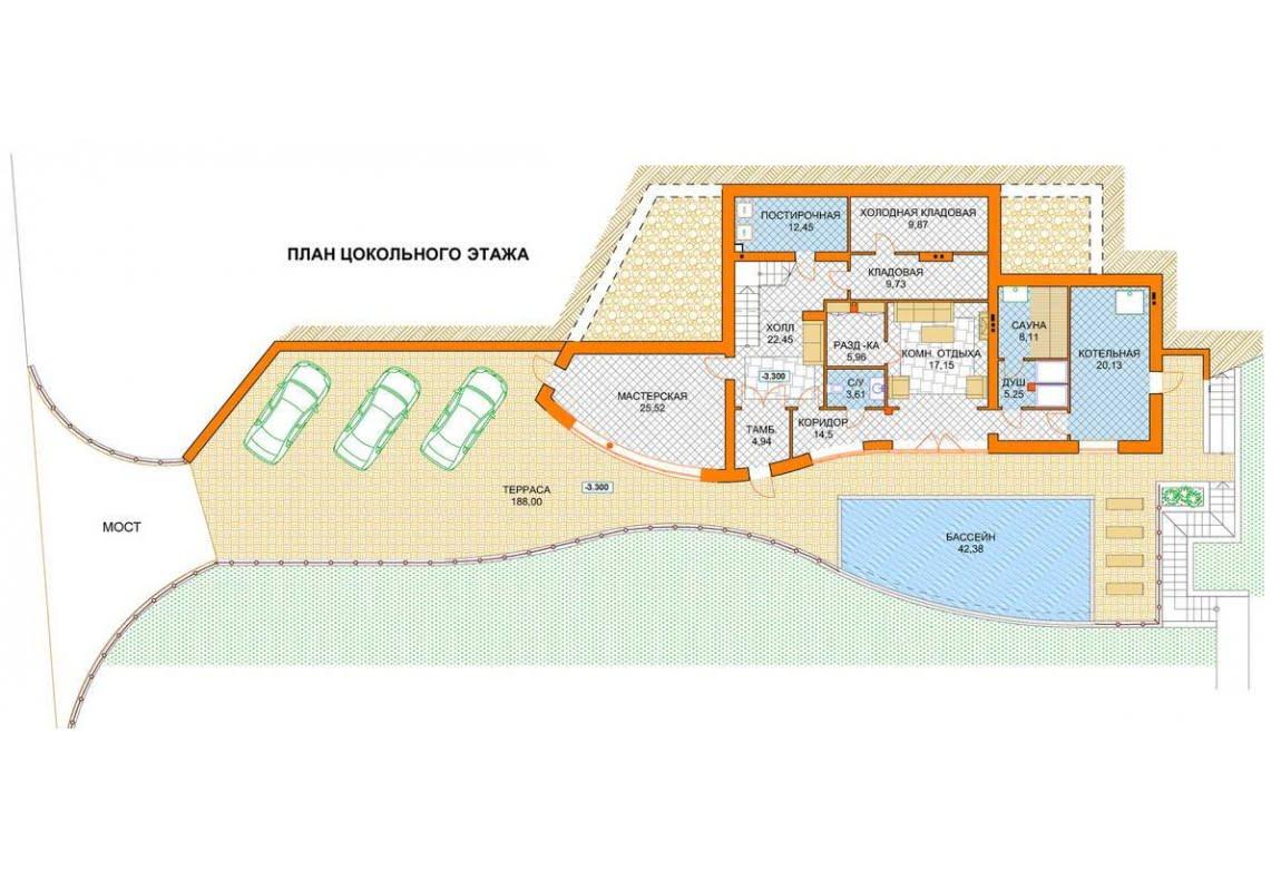 План N1 проекта ВИП дома АСД-1441
