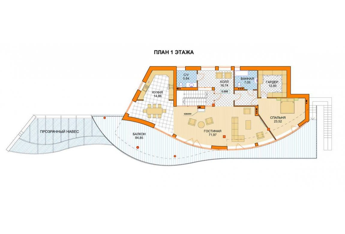 План N2 проекта ВИП дома АСД-1441