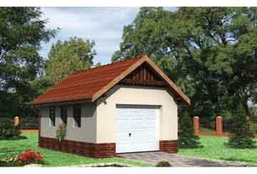 Проект гаража АСД-1443