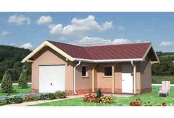 Проект гаража АСД-1445