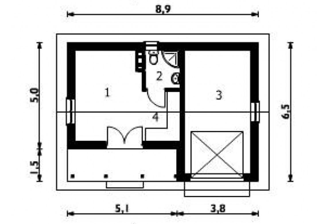 План N1 проекта гаража АСД-1448
