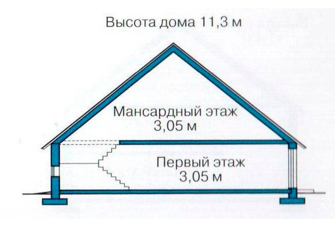 План N3 проекта кирпичного дома АСД-1045